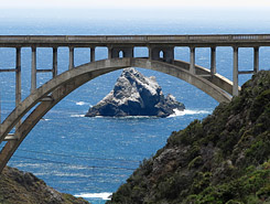 California coast bridge