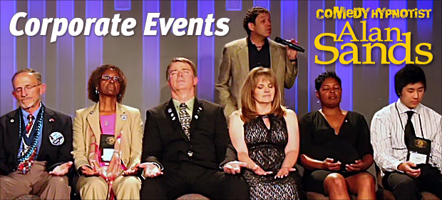 Comedy hypnotist Alan Sands for corporate events